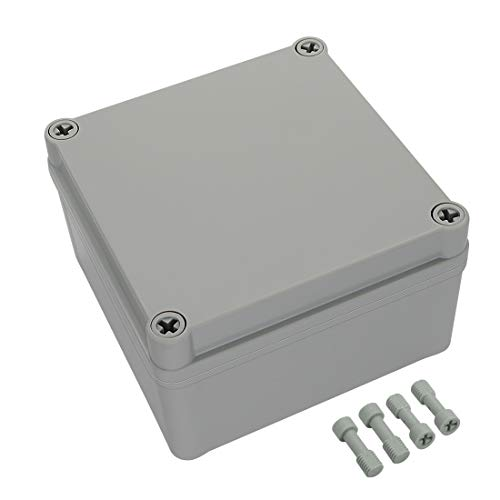 LeMotech Waterproof Dustproof IP67 Junction Box DIY Case Enclosure Gray 4.9 x 4.9 x 3 inch (125 x...