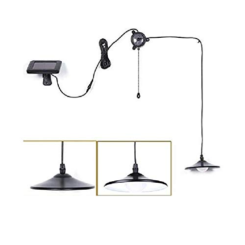 Solar Lights,Kyson Solar Powered Led Shed Light with Remote Control and Pull Cord for Indoor Outdoor...