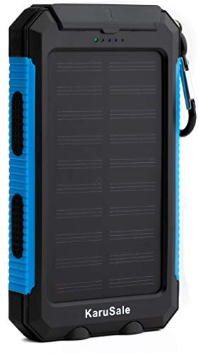 Solar Power Bank Portable Charger 50000mah Battery Pack 2 LED 2 USB Camping Solar Panels Waterproof...