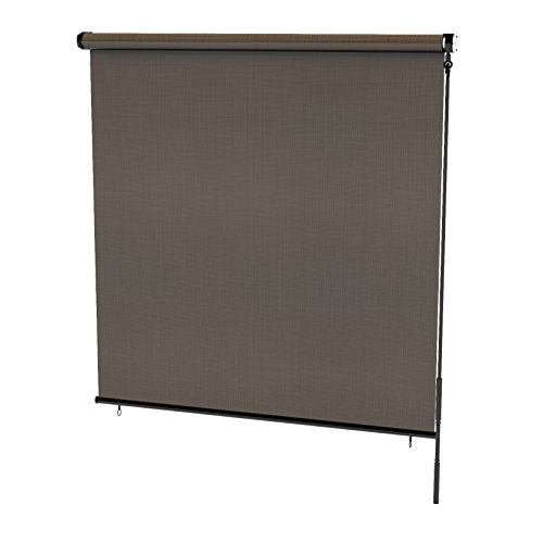 Radiance 0371672 Cordless Exterior Solar Shade Coconut Brown, 72x72