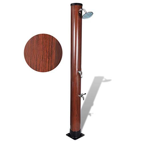Festnight Outdoor Solar Shower Stand Portable Temperature and Pressure Adjustable Garden Mobile...