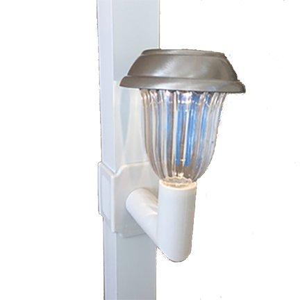 Solar Lanai Lights 4 Lights - Brightness 5 Lumen Clip on for Screen Enclosures, Lanai's and Pool...