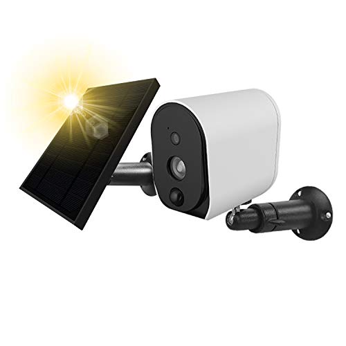 Outdoor Solar Powered Security Camera With Solar Panel, Wireless Outdoor 1080P Solar Camera, WiFi...
