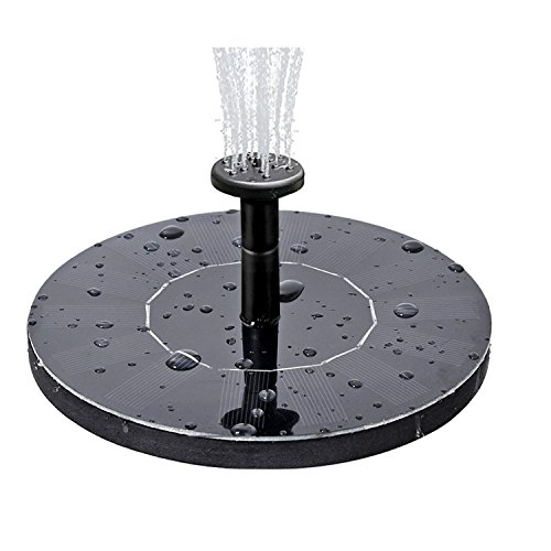 COSSCCI Solar Fountain Water Pump for Bird Bath, Submersible Solar Panel kit Pond Pumps for Small...