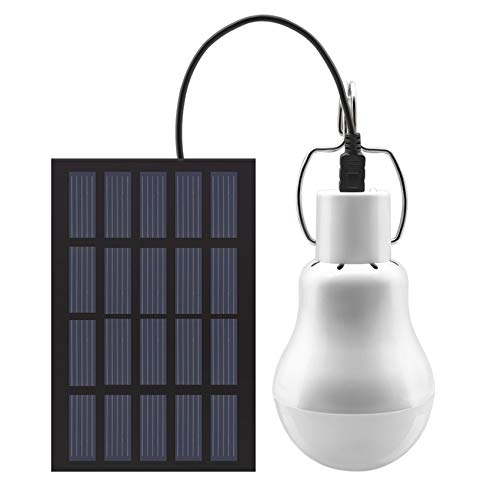 GreeSuit Solar Light Bulb Outdoor, Portable USB Charge Solar Powered Shed Led Light Bulb with Solar...
