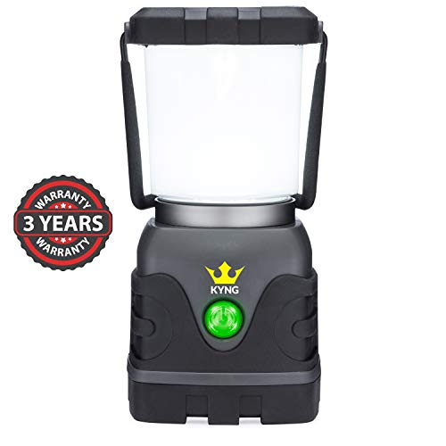 KYNG Camping Lantern 1000 Lumens Bright & Dimmable Warm & Cool White LED Light Modes- D-Cell Battery...