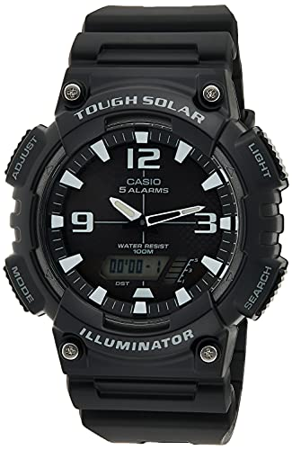 Casio Men's Tough (Solar Powered) Japanese-Quartz Watch with Resin Strap, Black, 28 (Model:...