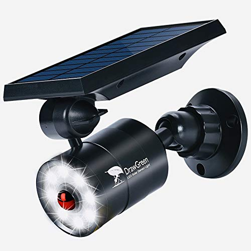 Solar Lights Outdoor Motion Sensor, 1400-Lumen Bright LED Spotlight 9-Watt(130W Equiv.), Solar...