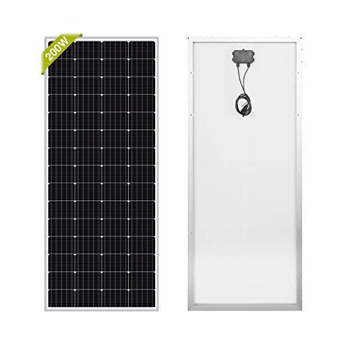 Newpowa 200W Monocrystalline 200 Watt 12V Solar Panel High Efficiency Mono PV Module Power for RV...