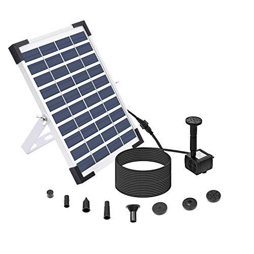 Lewisia 5W Solar Fountain Pump for Pool Koi Pond Bird Bath Garden Decoration Submersible Water Pump...