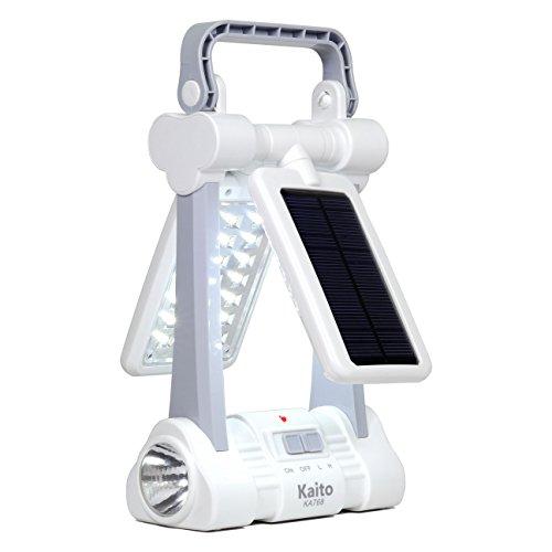 Kaito KA768 Multi-Functional Twin-Panel Rechargeable & Portable Solar LED Lantern