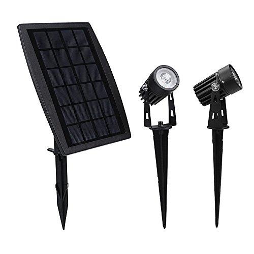 Findyouled Solar Spotlight, Waterproof Outdoor Solar Lights Landscape Lighting Wall Light Auto On/...