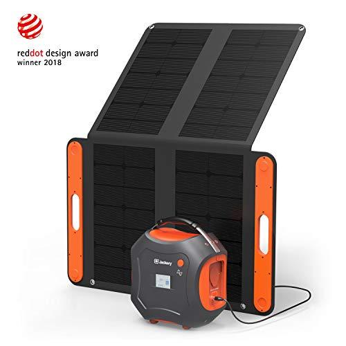 Jackery Portable Power Station Generator Kit Powerpro 500 with a 100W Solar Panel,Backup Power...