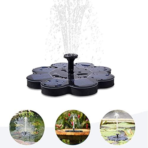 TekHome 1.6W Solar Fountain Pump, Solar Bird Bath Fountain Pump, Solar Powered Bird Bath Fountain,...