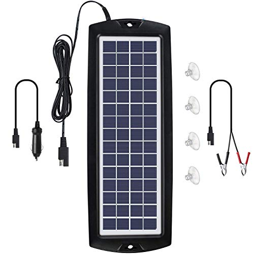 Sunway Solar Car Battery Trickle Charger & Maintainer 12V Solar Panel Power Kit Portable Backup for...