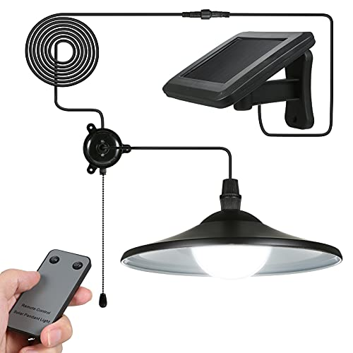 Lixada Solar Pendant Light Outdoor Indoor Hanging Light LED Shed Light Waterproof Pendant Lamp with...