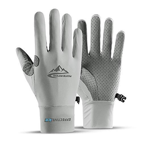 Seektop UV Protection Fishing Gloves Cooling UPF50+ Sun Gloves Men Women for Running, Hiking,...