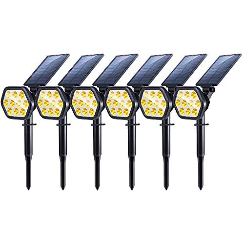 Nekteck Solar Lights, 10 LED Solar Spot Lights Outdoor, Waterproof 2-in-1 Solar Spotlights Outdoor,...