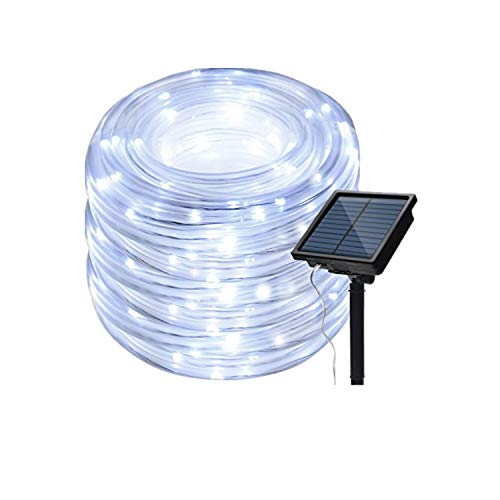 IMAGE 8 Modes Solar Rope Lights Outdoor String Lights 78.7Foot 20M Waterproof 200LED for Indoor...