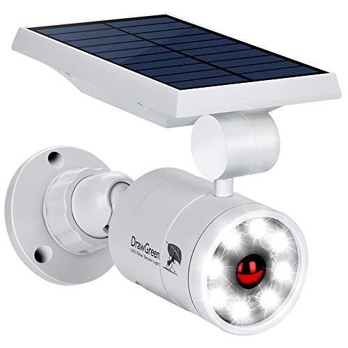 DrawGreen DG08-A Solar Outdoor Motion Sensor,1400-Lumens Bright LED Spotlight 5W(110W Equiv.) Light,...