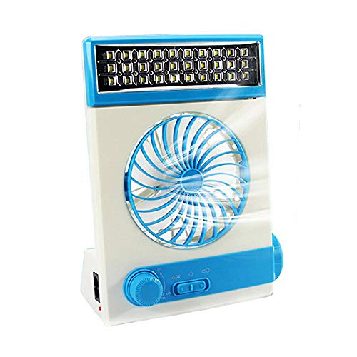 Ansee Solar Fan Camping Fan Cooling Table Fans 3 in 1 Multi-Function with Eye-Care LED Table Lamp...