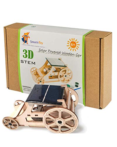Wooden Solar Car STEM Projects for Kids - Science Kits for Boys & Girls Model Kits to Build - DIY...