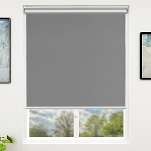 SUNFREE Blackout Window Shades Cordless Window Blinds with Spring Lifting System for Home & Office,...