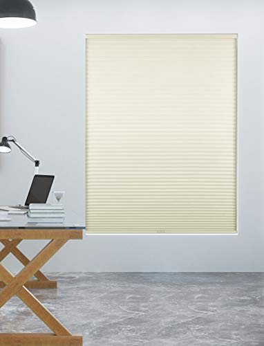 Arlo Blinds Single Cell Room Darkening Cordless Cellular Shades, Color: White, Size: 22' W x 82' H