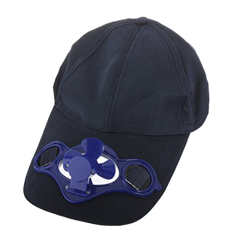Solar Powered Air Fan Cooled Baseball Hat w/ Solar Panel on the Cap Front Eco Friendly Camping...