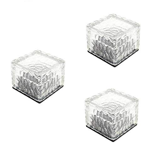 Lighten Glimmer Pack of 3 Solar Lights Garden AA NI-MH 300mA LED Buried Underground Brick Rock Lamp...