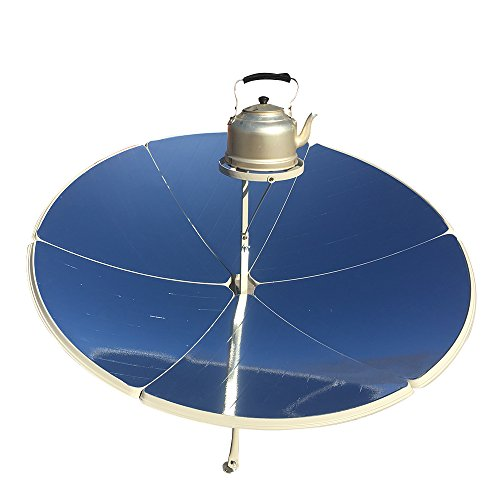 HUKOER 1.5m Diameter 1800W Portable parabolic Solar Cooker with Higher Efficiency