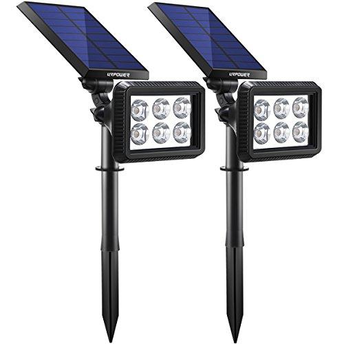 URPOWER Solar Lights Outdoor Upgraded, 2-in-1 Waterproof Solar Lights Solar Landscape Lights Auto...