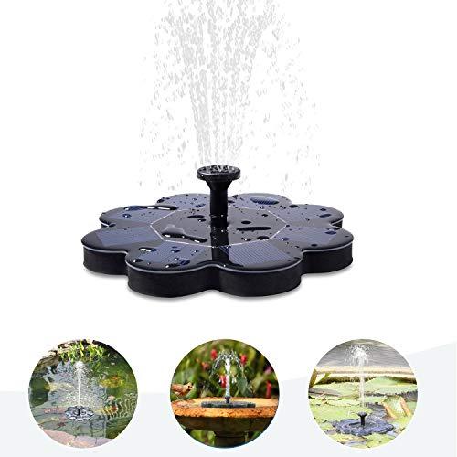 Qualife Solar Water Fountains Outdoor, Solar Powered Fountain Pump for Bird Bath,1.6W Solar Pond...
