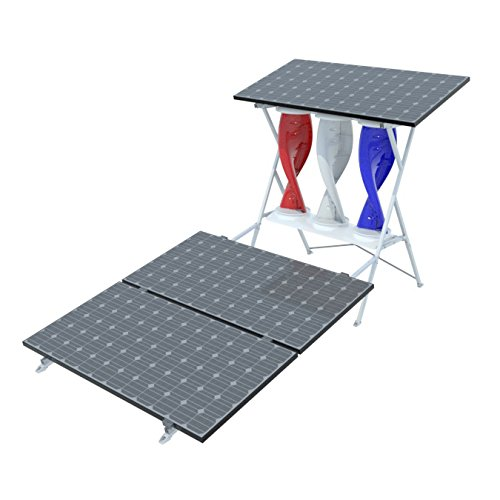 My SolarMill A 1 KW Wind & Solar Hybrid | Home or Commercial Renewable Power System Kit (red white...