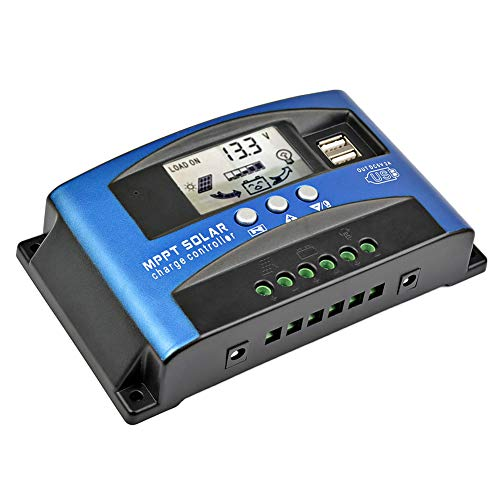 AOSHIKE 30A MCU Solar Charge Controller with LCD Display,New MPPT Technical Maximum Charging Current...