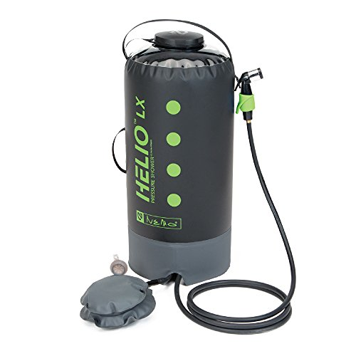 Nemo Helio LX Portable Pressure Shower with Foot Pump, Apple Green