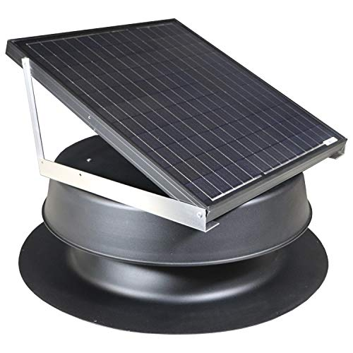 Solar Attic Fan 48-watt - Black - with 25-year Warranty - Florida Rated by Natural Light