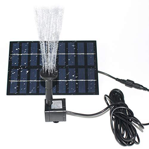 ROADTEC Solar Fountain Pump for Birdbath, 1.8W Solar Water Fountain Solar Powered Fountain Pump Kit...