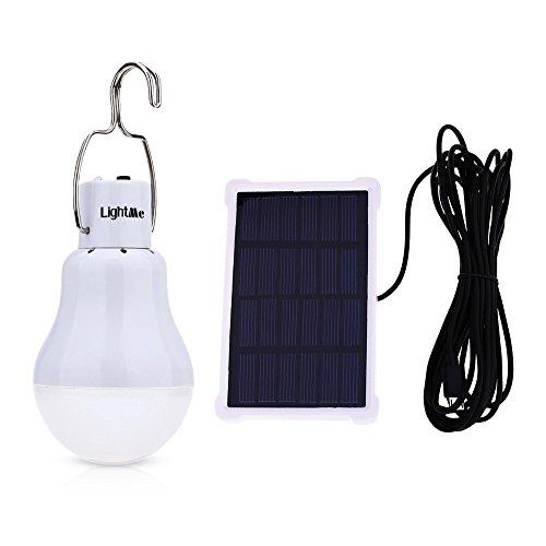 LightMe Solar Light Bulb Portable 140LM Solar Powered Led Bulb Lights Outdoor Solar Energy Lamp...