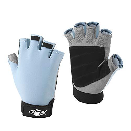 Palmyth UV Fishing Gloves Sun Protection Fingerless Kayaking Glove Men Women UPF 50+ SPF for...