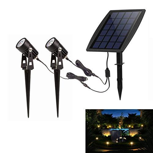 Led Solar Powered Spot Lights,Outdoor Low Voltage Garden Spotlights, Security Landscape Lighting for...