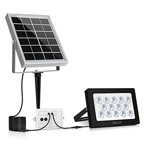 CLY 14 LED Solar Lights, Outdoor Security Floodlight, 400 Lumen, IP66 Waterproof, Auto-induction,...