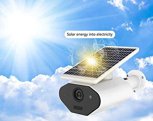 1080P WiFi Outdoor IP67 Waterproof Solar Powered Security Camera Wireless CCTV IP Camera with...