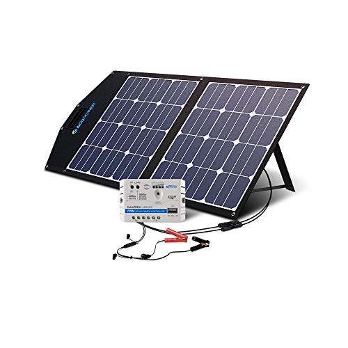 ACOPOWER 12V 70 Watt Foldable Solar Panel Kit; Portable Solar Charger Suitcase of 2x35W...