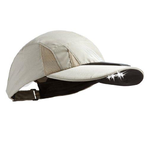 Panther Vision SCUB-4003 4 LED Solar Powered Microfiber Hat, Tan