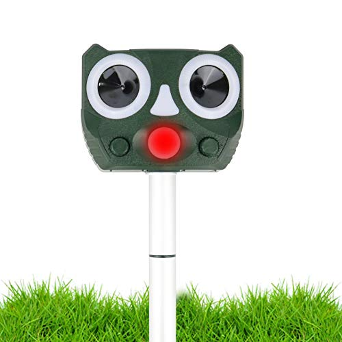 Ultrasonic Animal Repellent, Animal Repeller Deterrent with Motion Sensor, Solar Powered Waterproof...