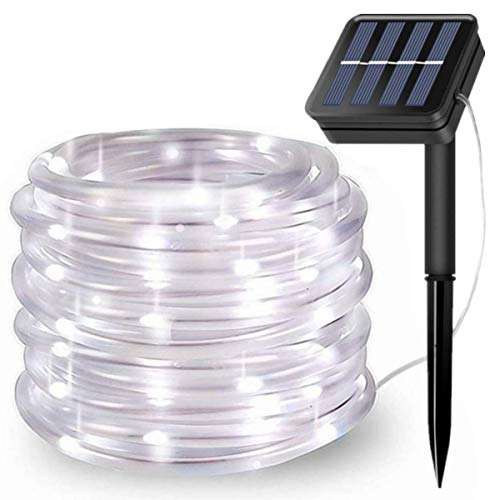 LiyuanQ Solar String Lights Outdoor, Updated 100 LED Solar Rope Lights Outdoor Waterproof Fairy...