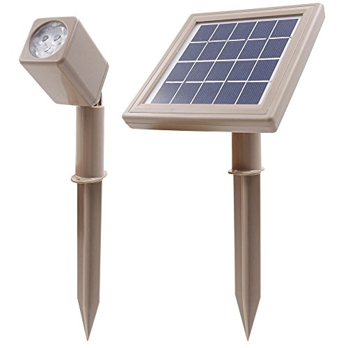 HEX 50X Single Solar Spotlight Warm White LED Waterproof Dimmable Dusk to Dawn for Outdoor Garden...