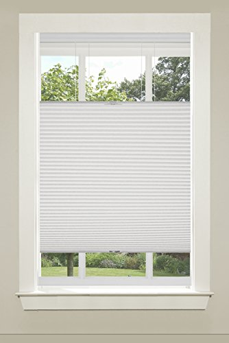 Achim Home Furnishings CSTD35WH06 Top-Down Cordless Honeycomb Cellular Pleated Shade, 35 by 64',...