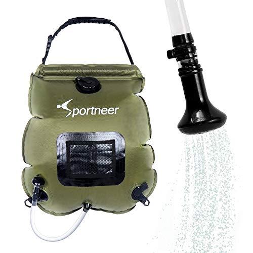 Sportneer Solar Shower Bag, 20L/5 Gallon Camping Shower Bag Portable Solar Camp Shower Bag with...
